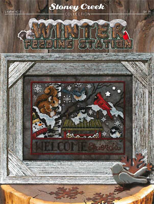 Winter Feeding Station - Cross Stitch Pattern