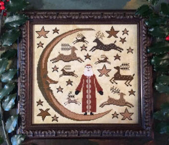 Deer Santa - Cross Stitch Pattern