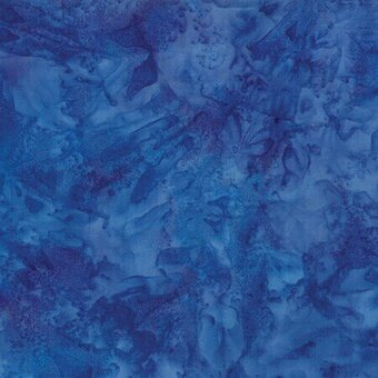 Iris Watercolor Batik 100% Cotton Fabric Half Yard