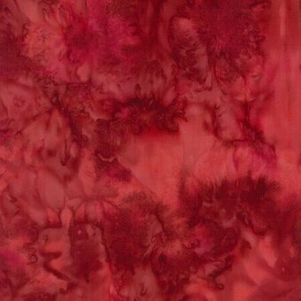 Red Velvet Watercolor Batik 100% Cotton Fabric Fat Quarter