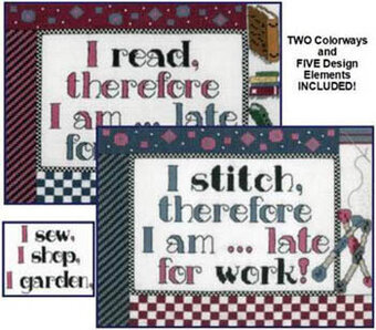 Late for Work! - Cross Stitch Pattern