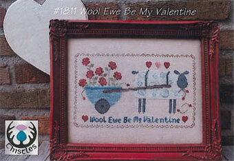 Wool Ewe Be My Valetine - Cross Stitch Pattern