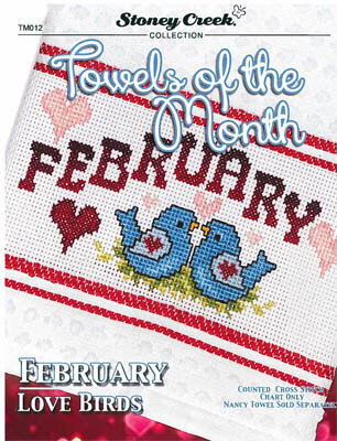 Towels of the Month - February - Cross Stitch Pattern