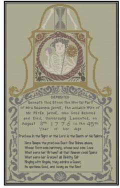 Death of Susanna Jayne - Cross Stitch Pattern