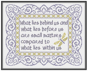 What Lies Beneath Us - Cross Stitch Pattern