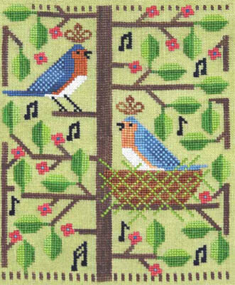 Bluebird Rhapsody - Cross Stitch Pattern