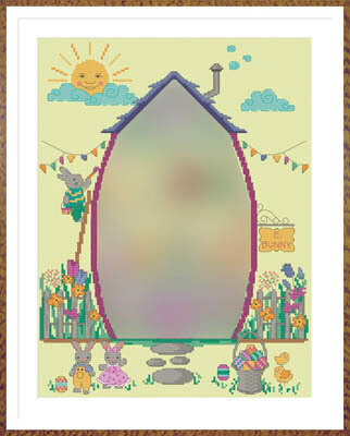 Easter Bunny House Part 1 - Cross Stitch Pattern