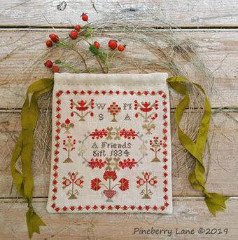 Sarah Platt 1811 Reproduction Sampler Pineberry Lane Cross Stitch Pattern