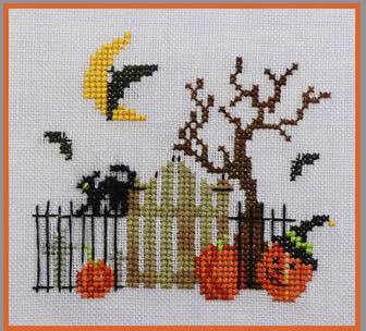 Bats Cats & Witches Hats - Cross Stitch Pattern