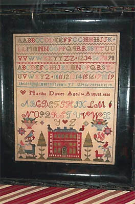 Martha Davies 1830 Sampler - Cross Stitch Pattern