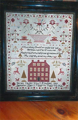 Sarah Casey Unwin 1848 Sampler - Cross Stitch Pattern