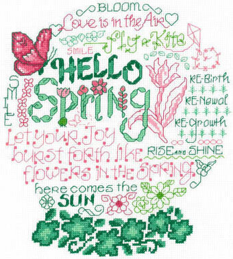 Let's Bloom - Cross Stitch Pattern