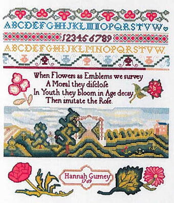 Hannah Gurney 1769 - Cross Stitch Pattern