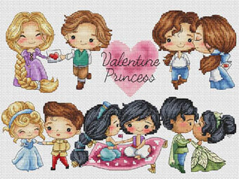 Valentine Princess - Cross Stitch Pattern