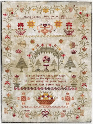 Maria Casson 1822 - Cross Stitch Pattern
