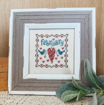 February Squared - Cross Stitch Pattern