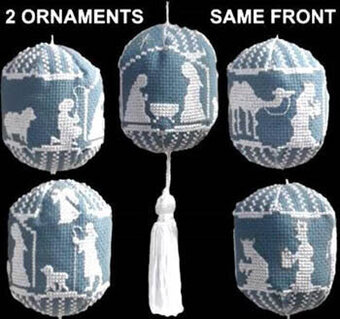 Nativity Ornaments - Cross Stitch Pattern