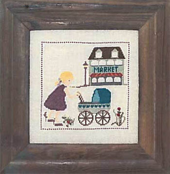 Doll's Pram - Cross Stitch Pattern