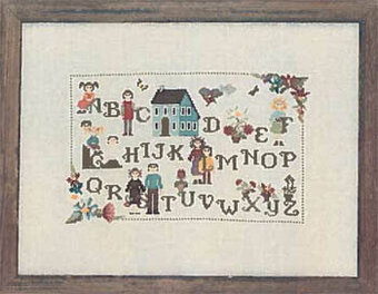 Family ABC - Cross Stitch Pattern