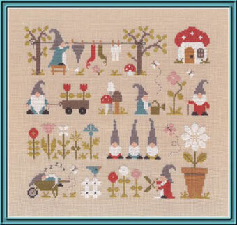 Au Pays Des Gnomes - Cross Stitch Pattern