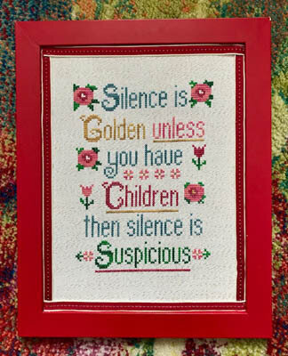 Silence is Golden - Cross Stitch Pattern