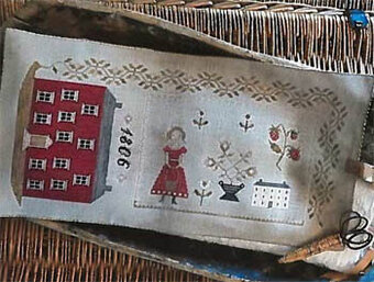 1806 Manor House Sewing Roll - Cross Stitch Pattern