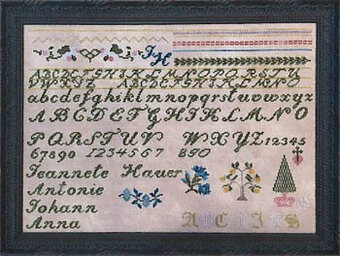 Jeannete Hauer Sampler - Cross Stitch Pattern
