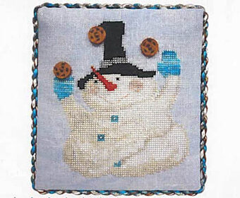 Pudgy Little Snowman - Cross Stitch Pattern