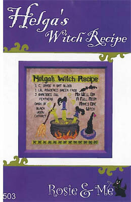 Helga's Witch Recipe - Cross Stitch Pattern