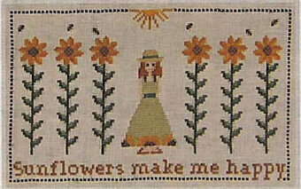 Sunflowers Make Me Happy - Cross Stitch Pattern