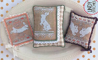 Bunny Lace Trio - Cross Stitch Pattern