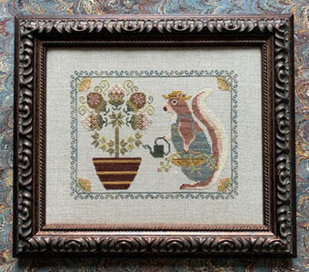 Spring Squirrel - Cross Stitch Pattern