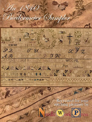 1840 Biedermeier Sampler - Cross Stitch Pattern