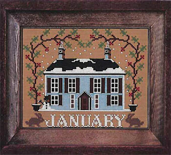 January - I'll be Home Mystery - Cross Stitch Pattern
