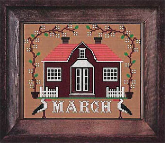March - I'll be Home Mystery - Cross Stitch Pattern