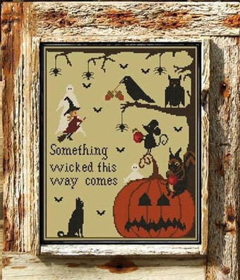 Halloween in the Woods - Cross Stitch Pattern