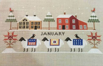 Heroic Ewes on a Freezing Day - Cross Stitch Pattern