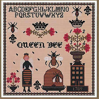 Queen Bee Sampler - Cross Stitch Pattern