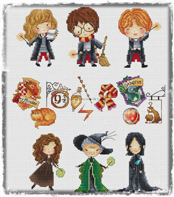 Harry Potter 1 - Cross Stitch Pattern