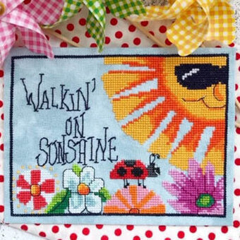 Walkin' on Sunshine - Cross Stitch Pattern