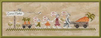 Carrot Market - Cross Stitch Pattern