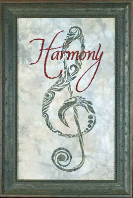 Harmony's Staff - Cross Stitch Pattern