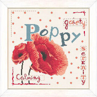Poppy  (USJ001) - Cross Stitch Pattern