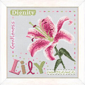 LILY cross stitch kit