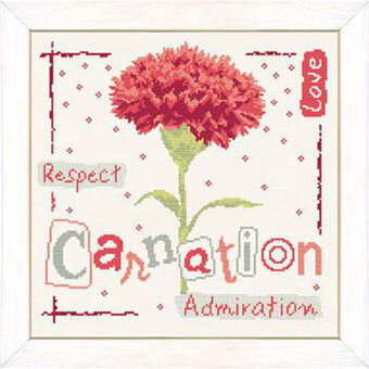 Carnation (USJ009)- Cross Stitch Pattern
