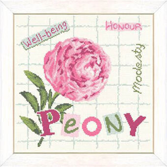Peony (USJ013) - Cross Stitch Pattern