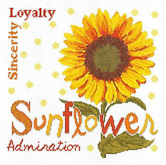 Sunflower (USJ014) - Cross Stitch Pattern