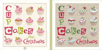 Cup Cake for Christmas (N027) - Cross Stitch Pattern