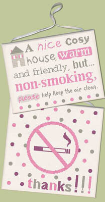 No Smoking (USS006) - Cross Stitch Pattern