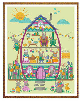 Easter Bunny House  Part 4 - Cross Stitch Pattern